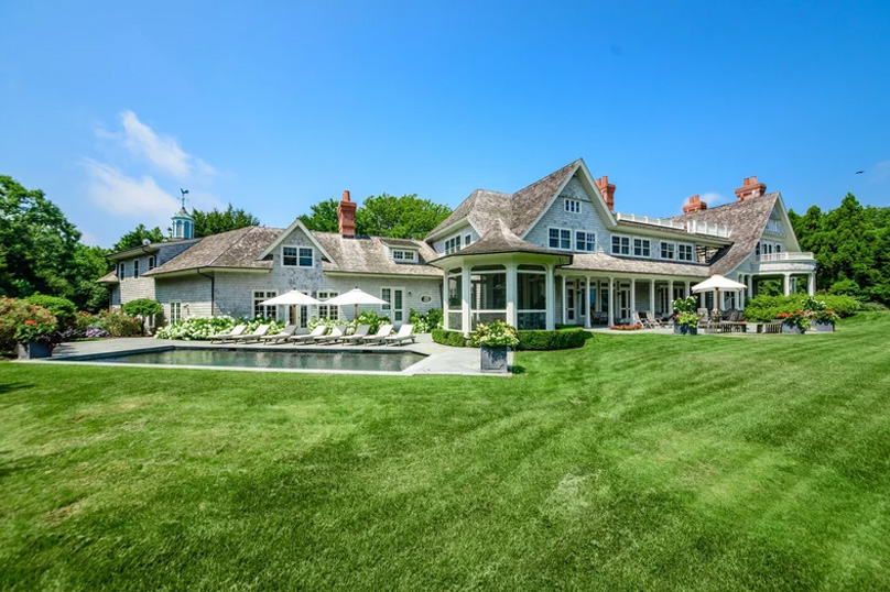 waterfront home in Amagansett in the Hamptons