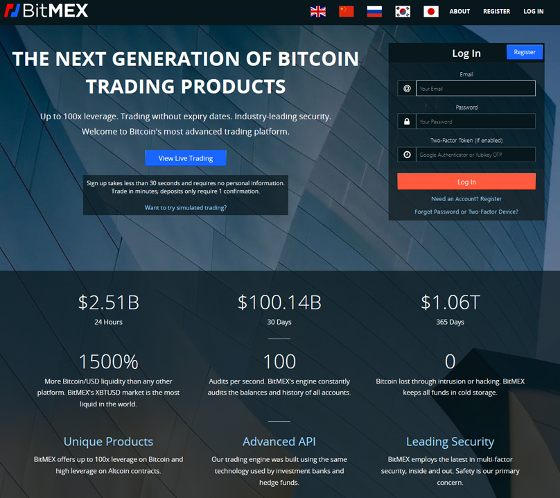 BitMex Website
