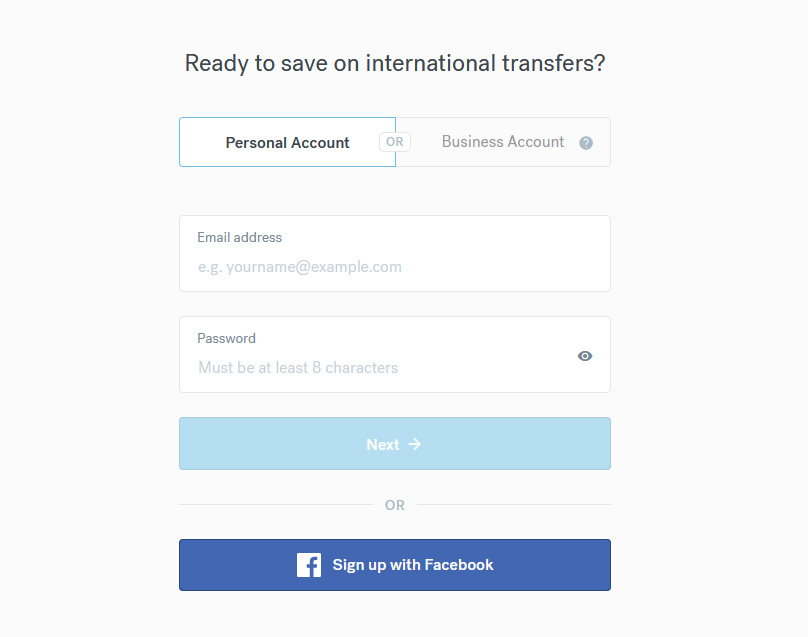 Account Signup