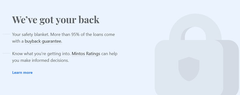 More than 95% of the loans come with a buyback guarantee .