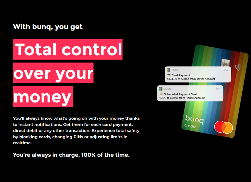 Control over your money