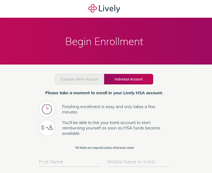 Lively Signup