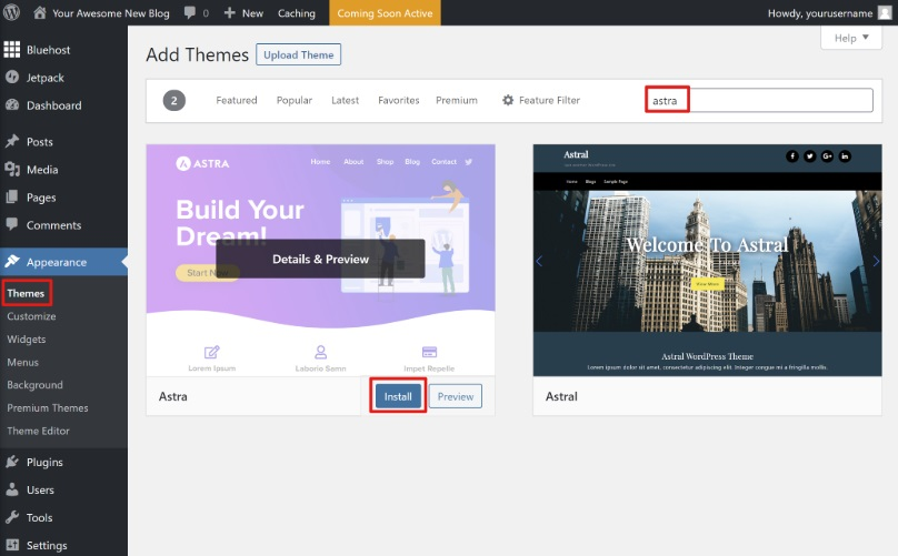 How to install a WordPress theme on your blog