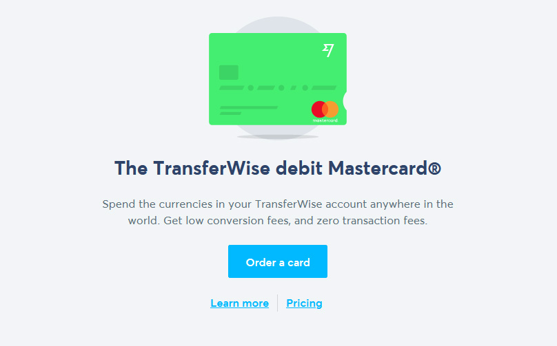 Order your card from the dashboard