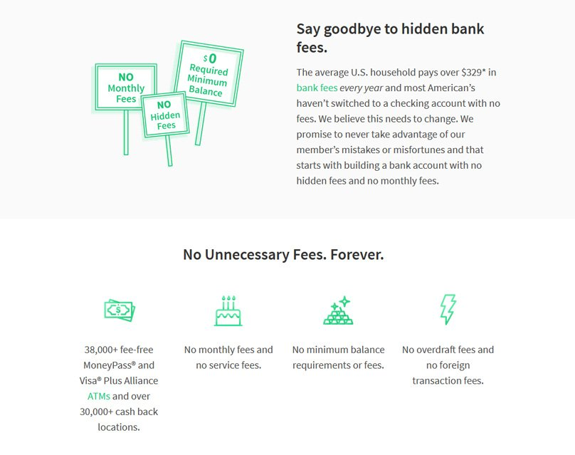 Banking with no hidden fees