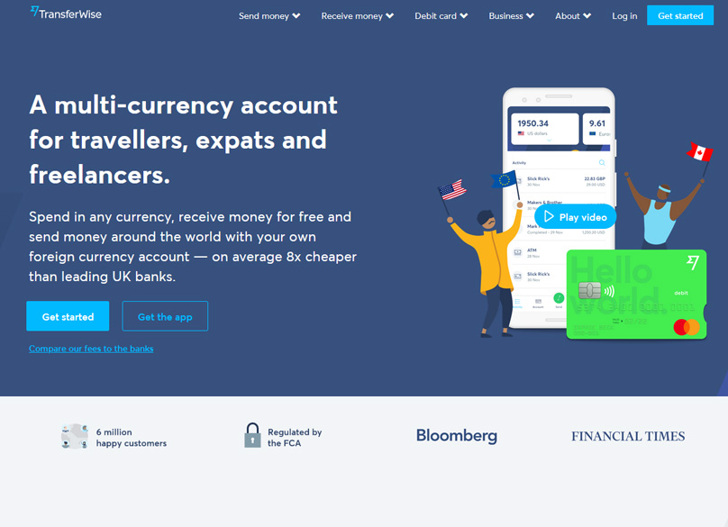 A multi-currency account for travellers, expats and freelancers