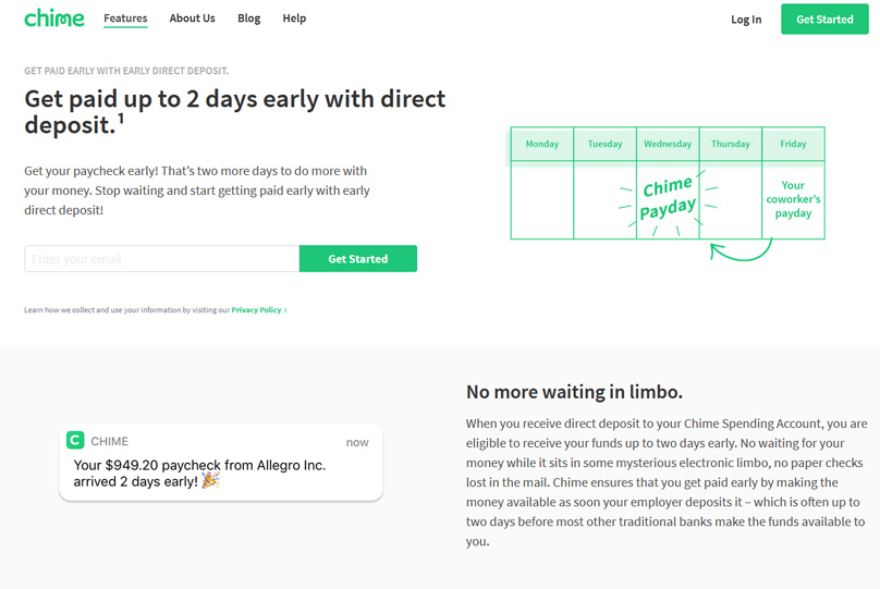 Get paid up to 2 days early with direct deposit