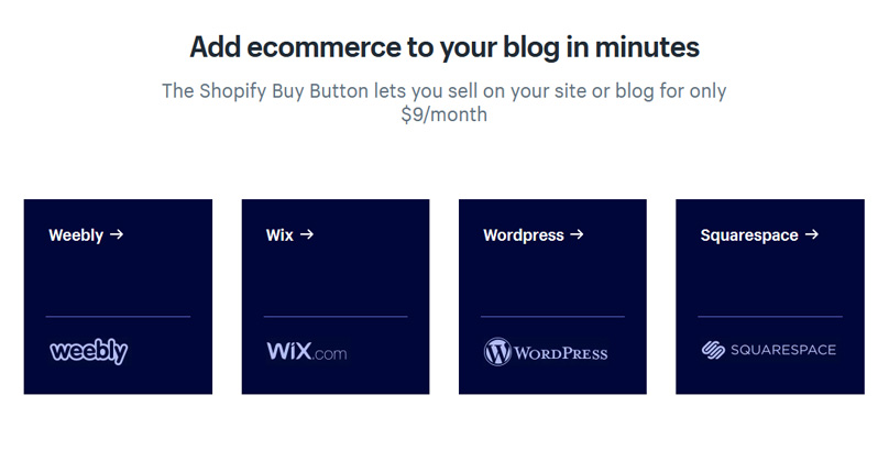 Start selling items from your blog, All platforms are supported