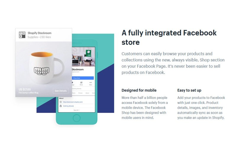Customers can browse your products using the Shop section on your Facebook Page