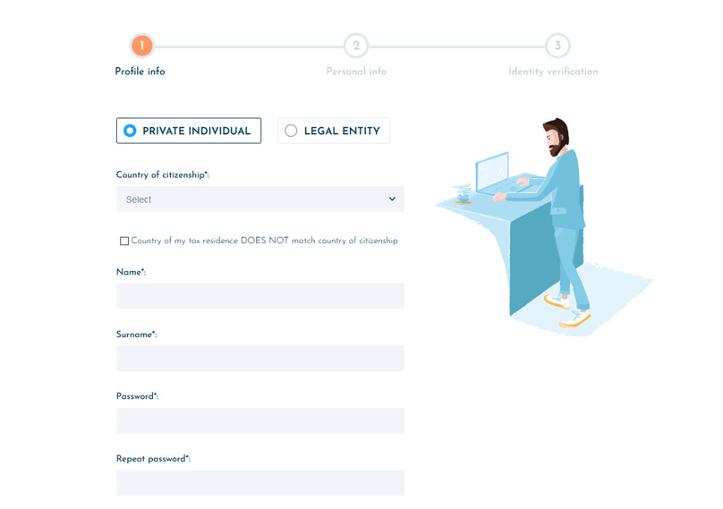Easy registration process