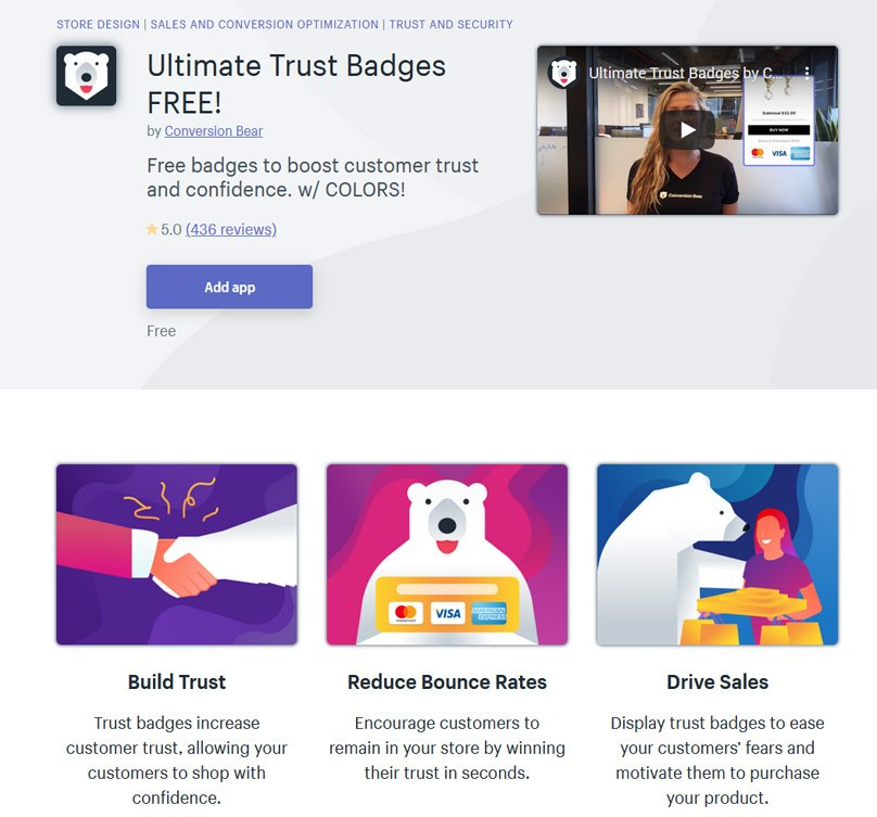 Ultimate Trust Badges FREE!by Conversion Bear