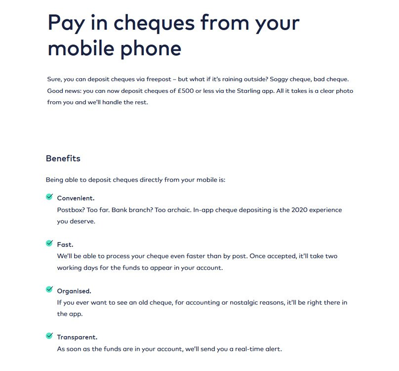 Pay in cheques from your mobile phone