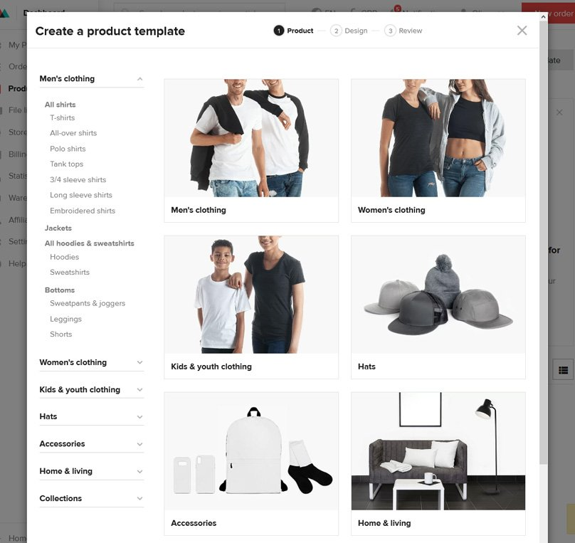 Choose a product to get started designing