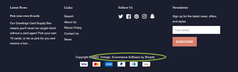 Remove eCommerce by Shopify
