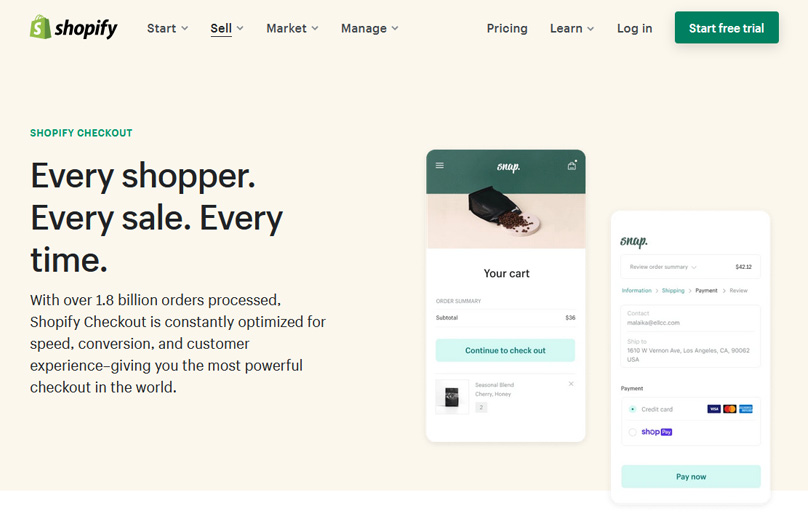Shopify has the best checkout product