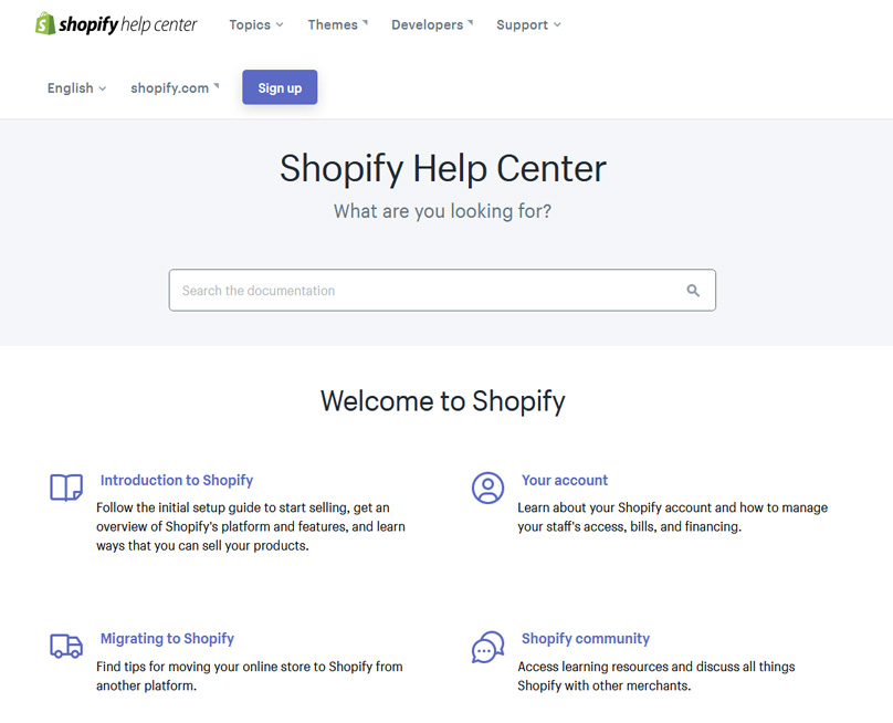 The Shopify Help Center