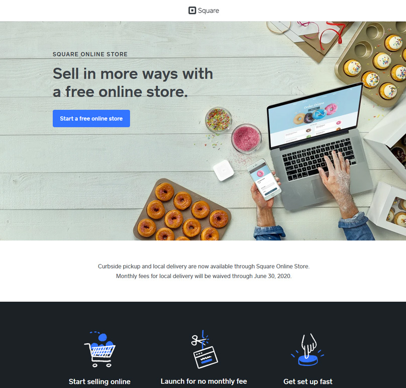 Square Online Store Homepage