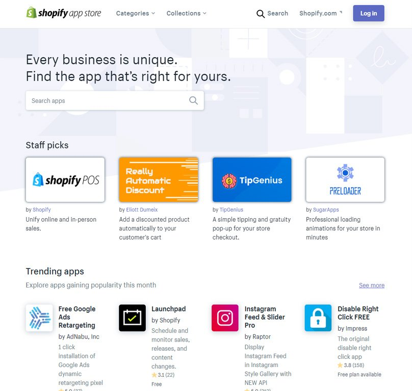 The Shopify App Store