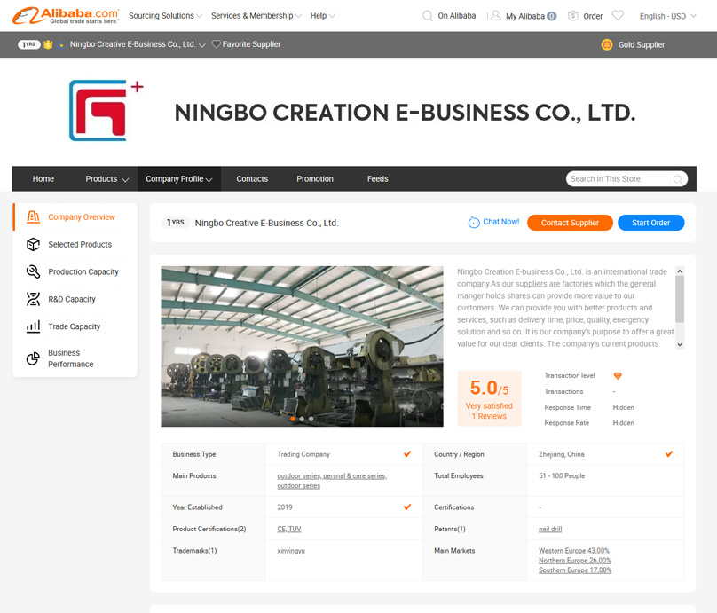 Look for a detailed company information page