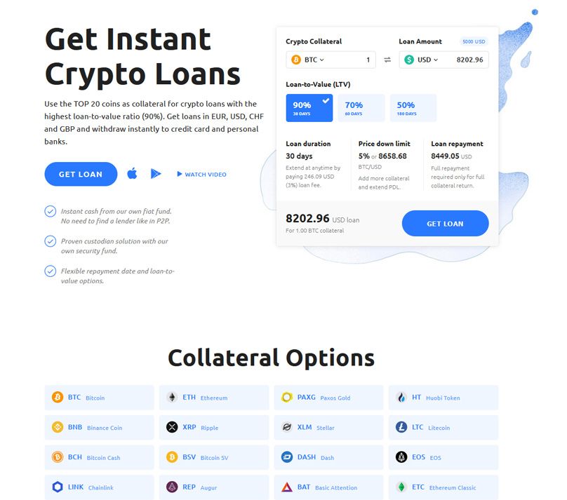 Instant Crypto Loans