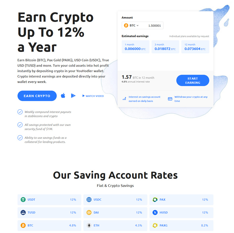 Earn Crypto Up To 12% a Year