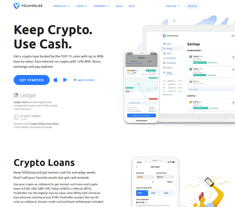 Youhodler homepage