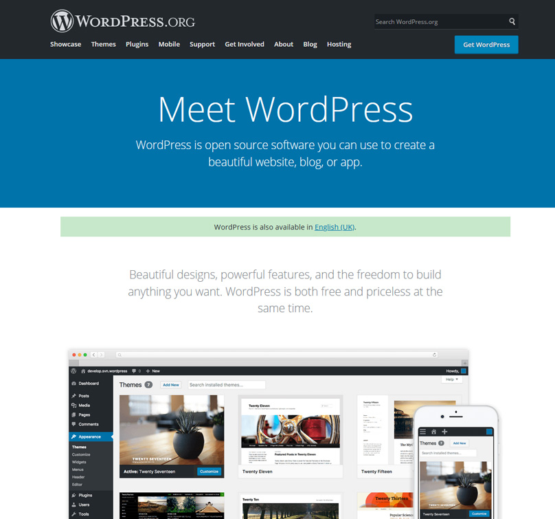 WordPress is by far the most popular blogging software
