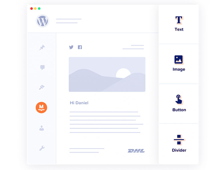 Create email templates with drag and drop
